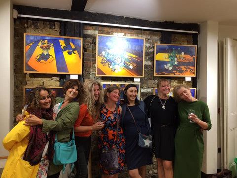 Lovely Ladies at the Private View of Jean M Gardiner: A Retrospective
