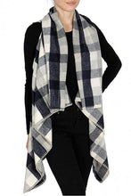 Load image into Gallery viewer, Plaid Shawl Vest
