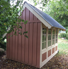 playhouse garden shed - back