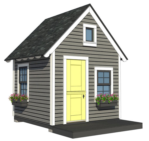 8x8 Playhouse With Loft Plan