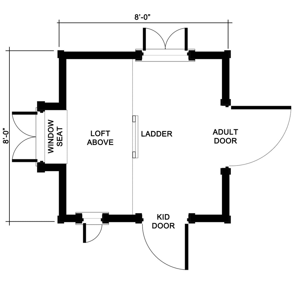 Gingerbread playhouse plan playhouse planner for Gingerbread house floor plans