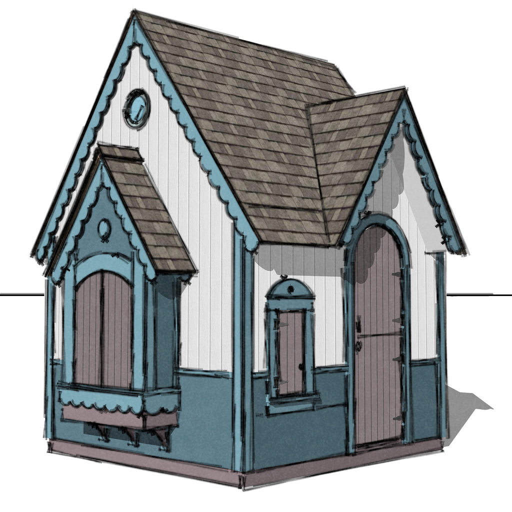 playhouse with loft plans x kids playhouse bungalow style color
