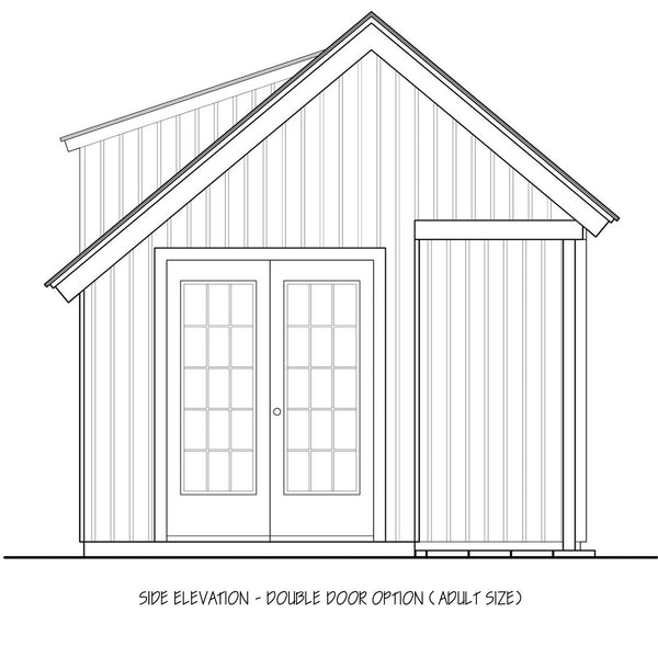 Traditional Playhouse Plan