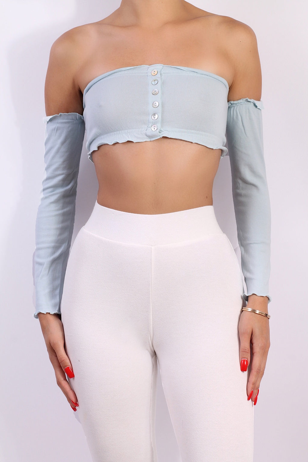 Button Me Up Crop