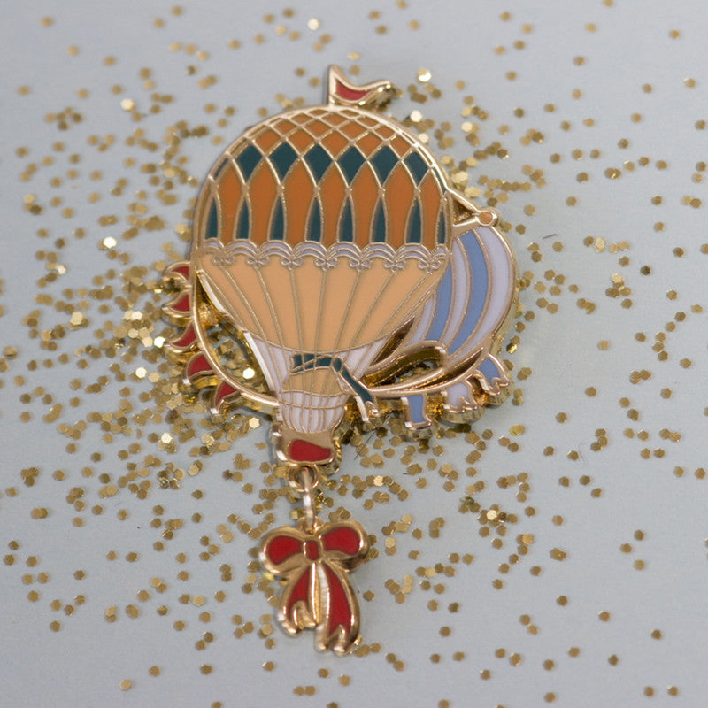 Sunrise Sky hot air balloon pin