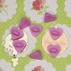Two pins with heart pinbacks