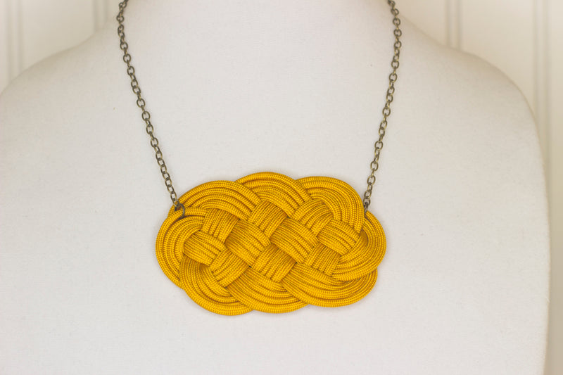 Burnt gold knotted necklace
