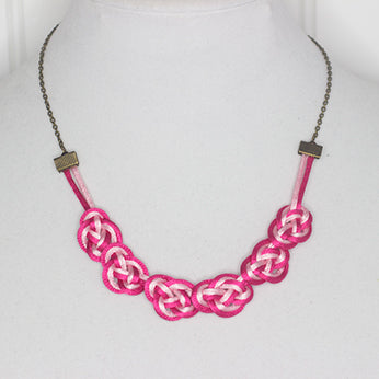 Satin cord necklaces