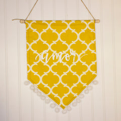 Patterned pennant banner