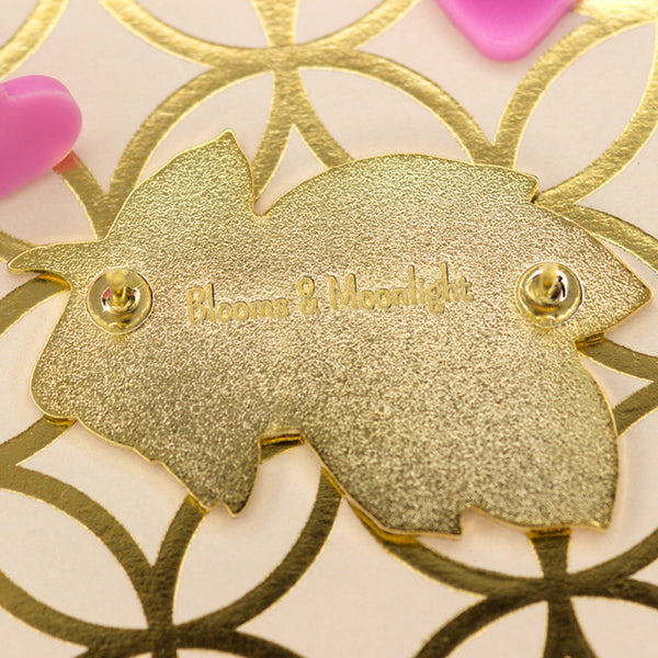 Branch of Hearts pin back