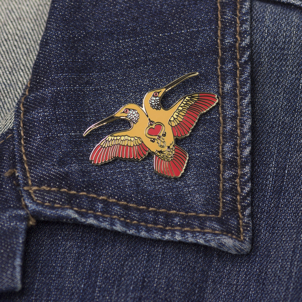 Midday Hummingbird on jean jacket