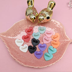 Small heart rubber pinbacks