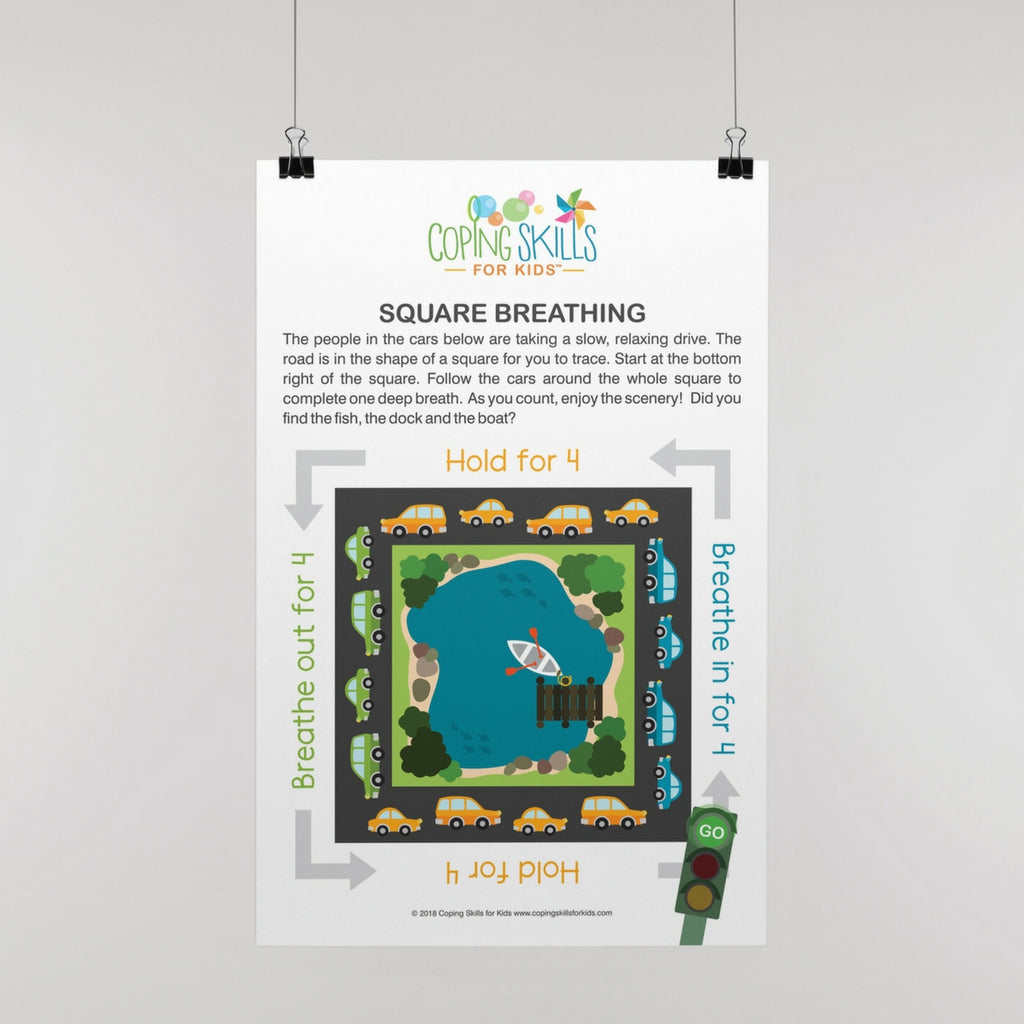 Wholesale Playful Square Deep Breathing Poster