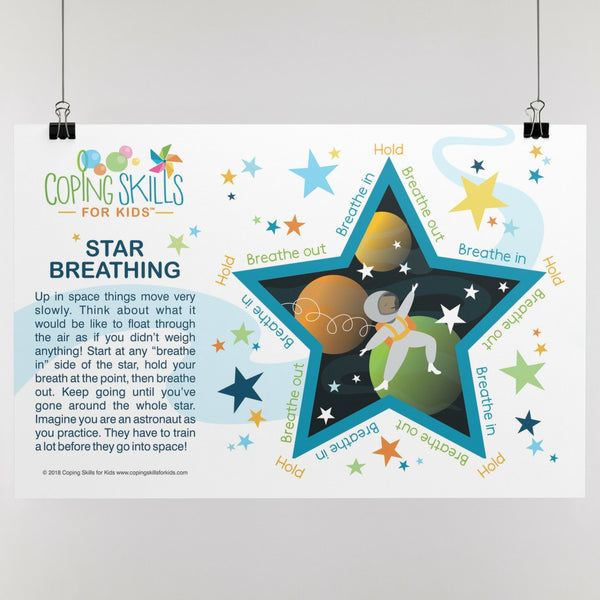 Wholesale Playful Star Deep Breathing Poster