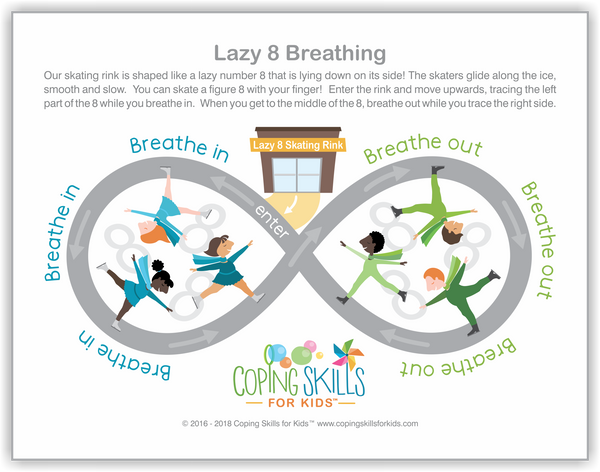 Wholesale Playful Lazy Eight Deep Breathing Poster