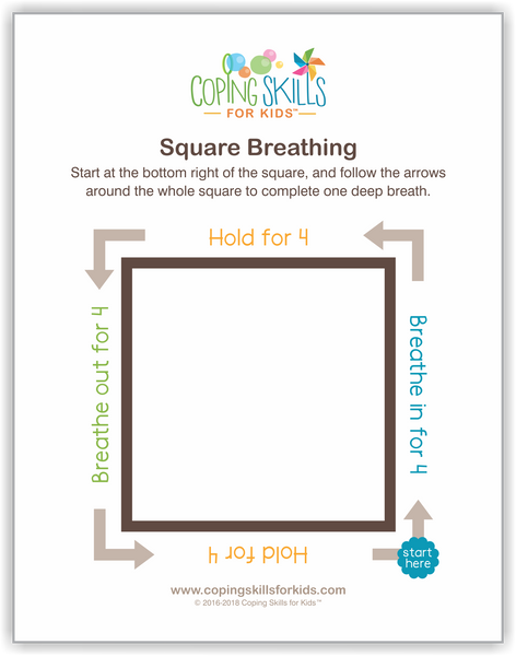 Wholesale Original Square Deep Breathing Poster