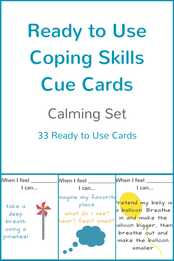 graphic regarding Visual Cue Cards Printable identify Well prepared toward Employ the service of Coping Capabilities Cue Playing cards - Comforting Fastened