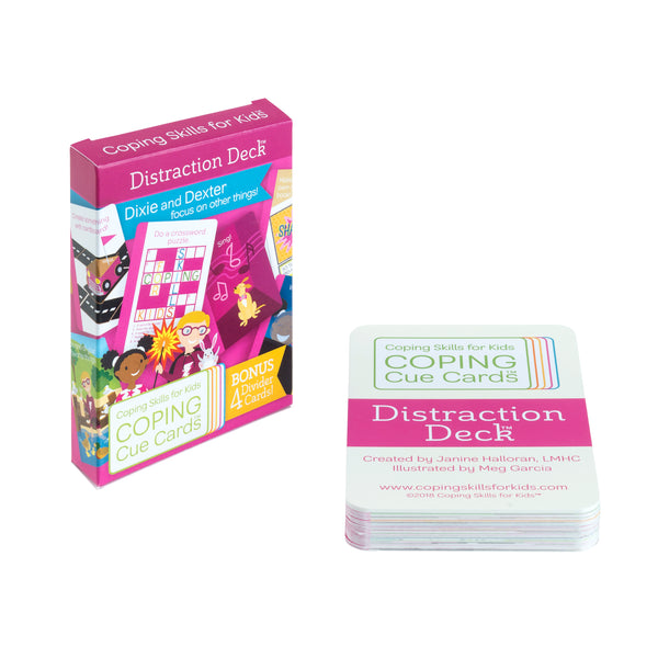Coping Cue Cards Distraction Deck
