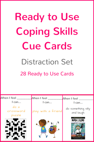 Ready to Use Coping Skills Cue Cards - Distraction Set