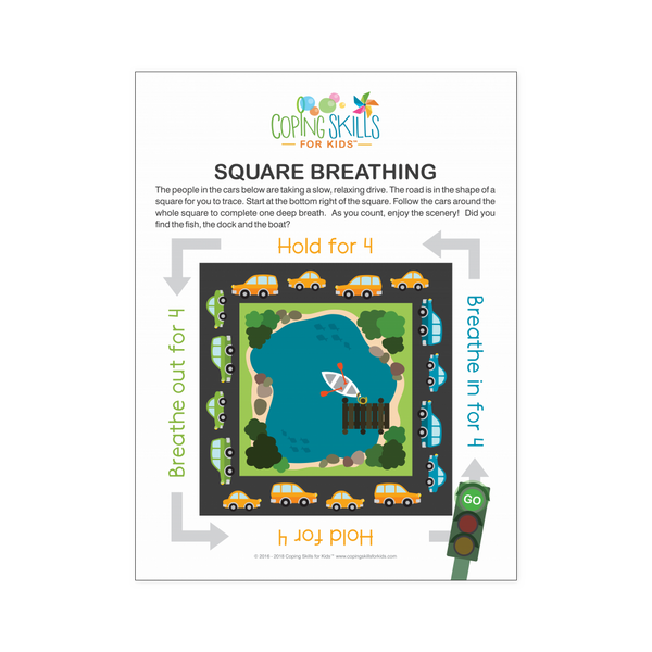 Playful Deep Breathing Square Poster