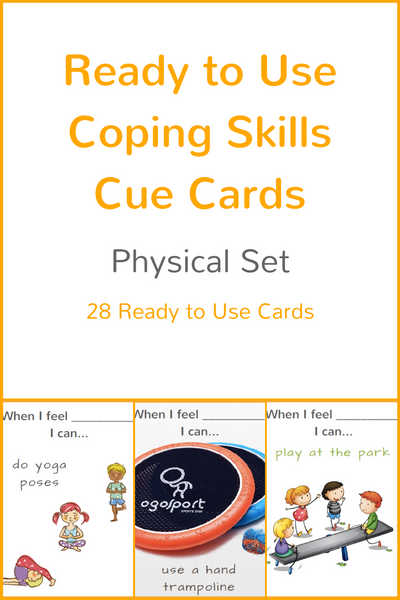 Set of 4 Ready to Use Coping Skills Cue Cards