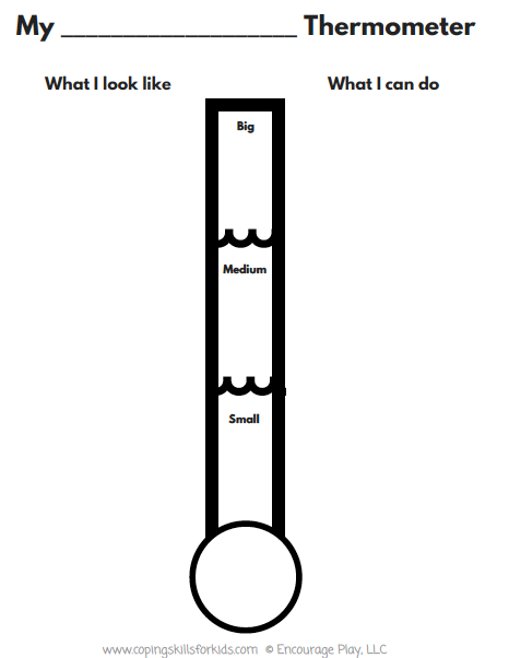 image regarding Feelings Thermometer Printable known as Thoughts Thermometer