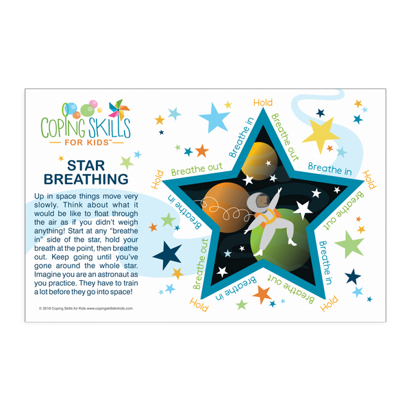 Playful Deep Breathing Star Poster