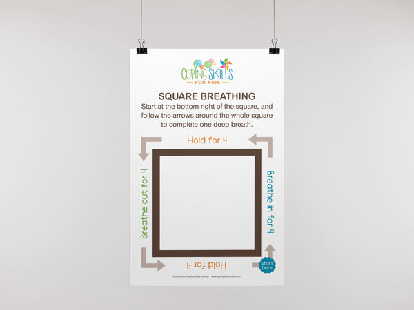 Deep Breathing Square Poster
