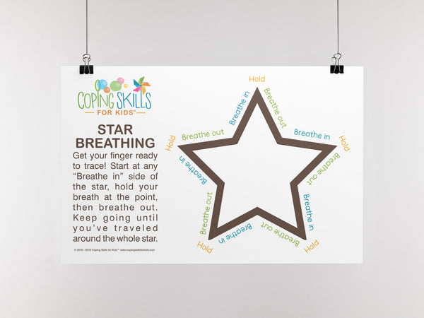 Deep Breathing Star Poster