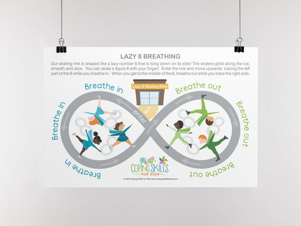 Playful Deep Breathing Lazy Eight Poster