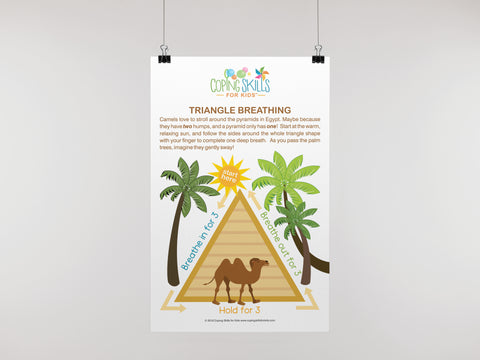 Playful Deep Breathing Triangle Poster