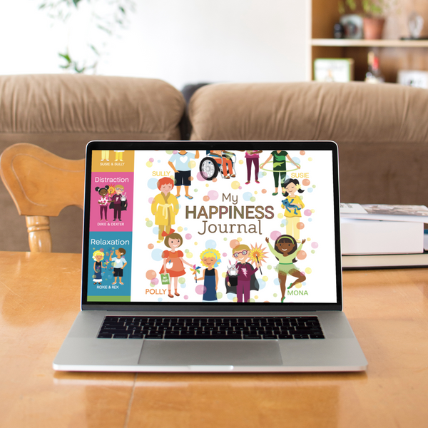Digital Coping Skills for Kids Activity Books: My Happiness Journal