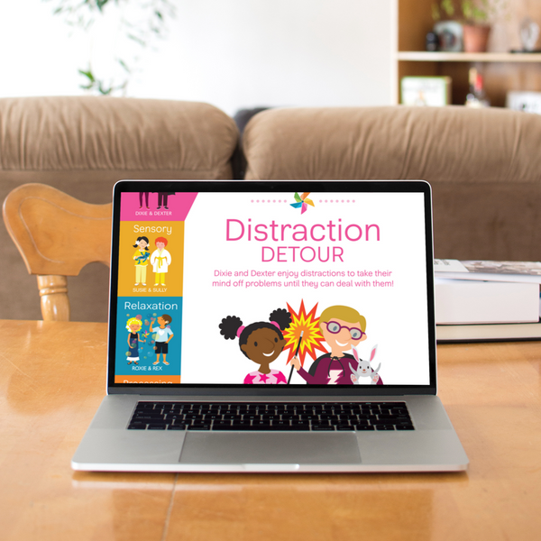 Digital Coping Skills for Kids Activity Books: Distraction Detour