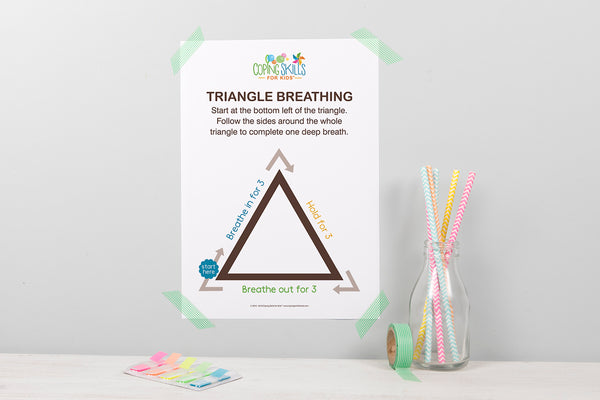 Deep Breathing Triangle Poster