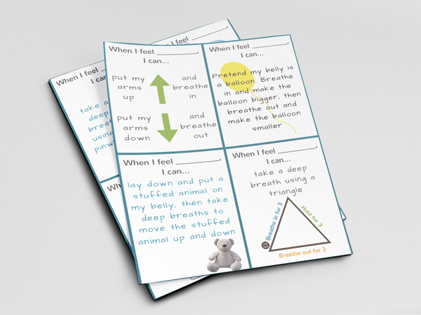 Ready to Use Coping Skills Cue Cards - Calming Set