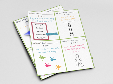 Ready to Use Coping Skills Cue Cards - Processing Set