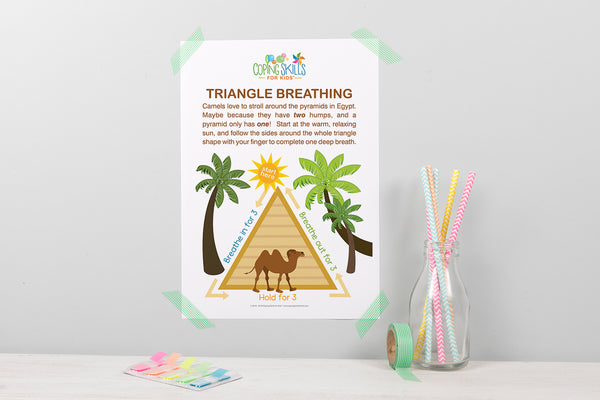 Wholesale Playful Triangle Deep Breathing Poster