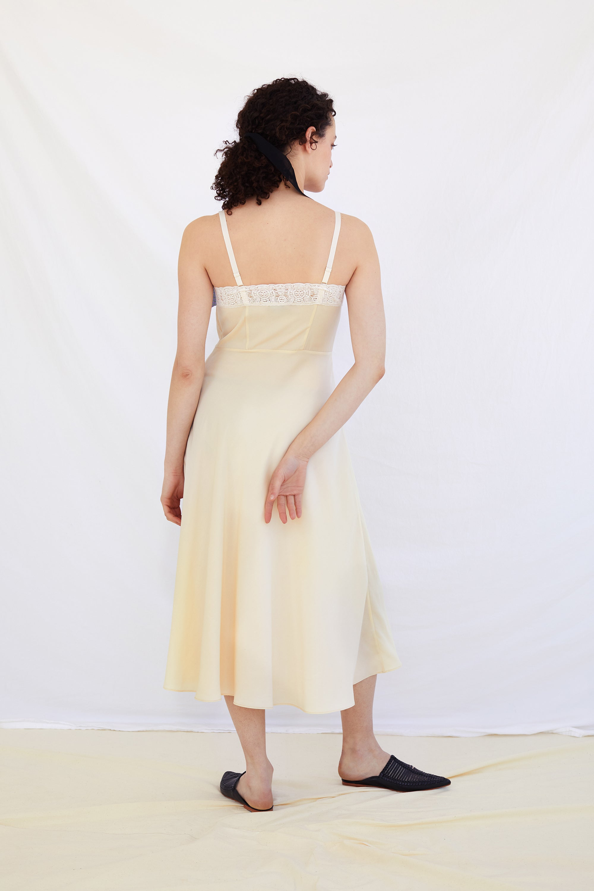 Cream Camille Slipdress