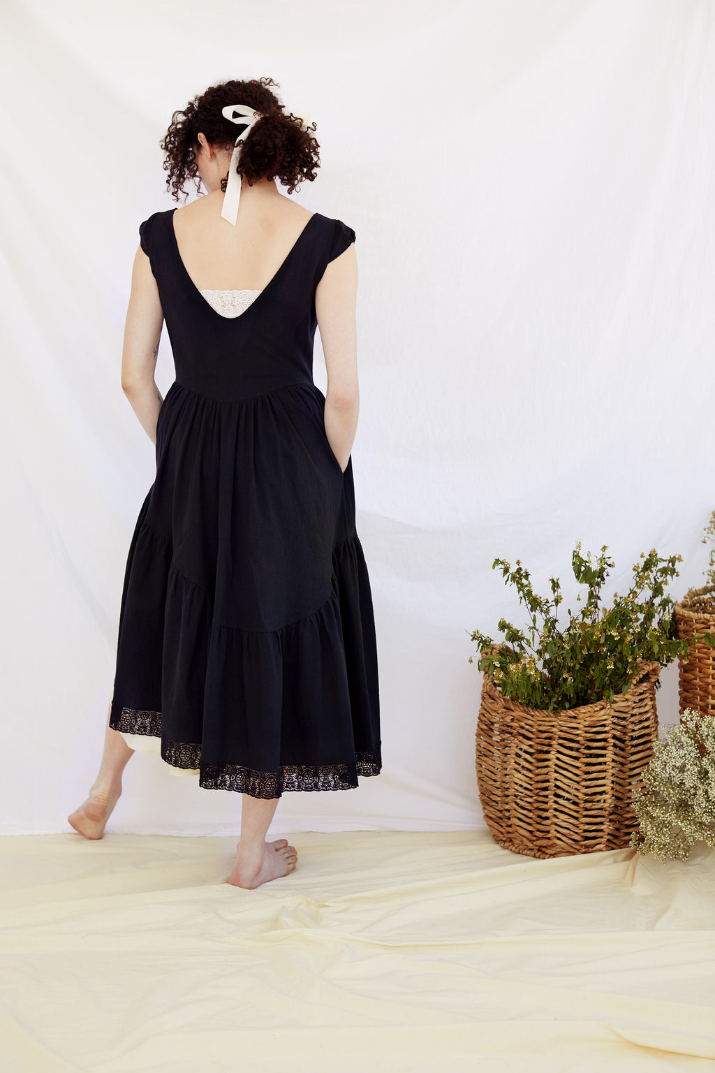 Black Claudette Dress