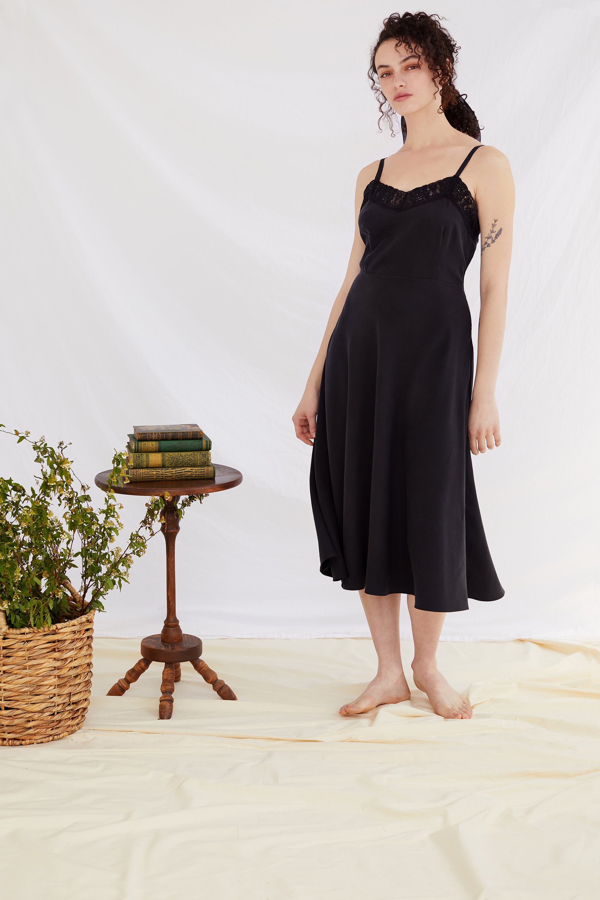 Black Camille Slipdress
