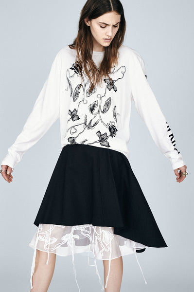 Floral Vine Long Sleeve T-Shirt - White