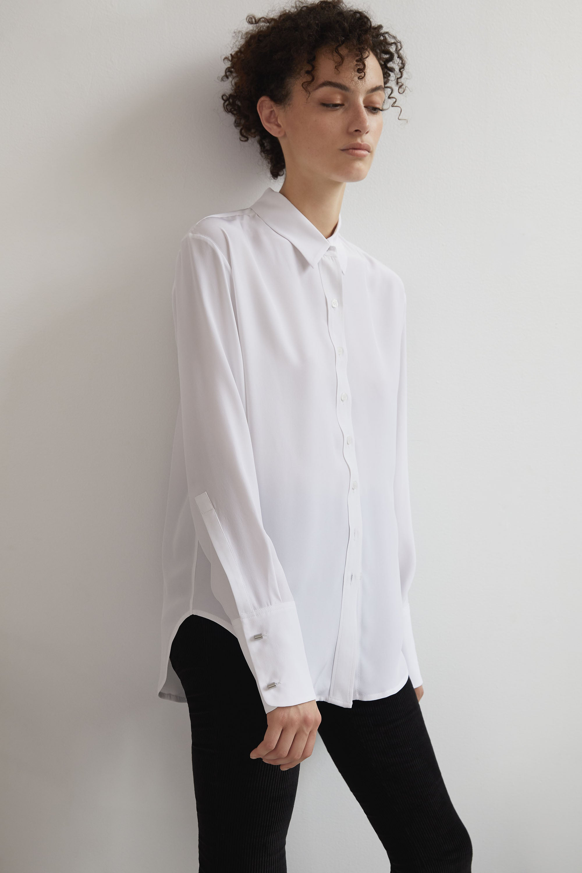 Emerson Button Up - White