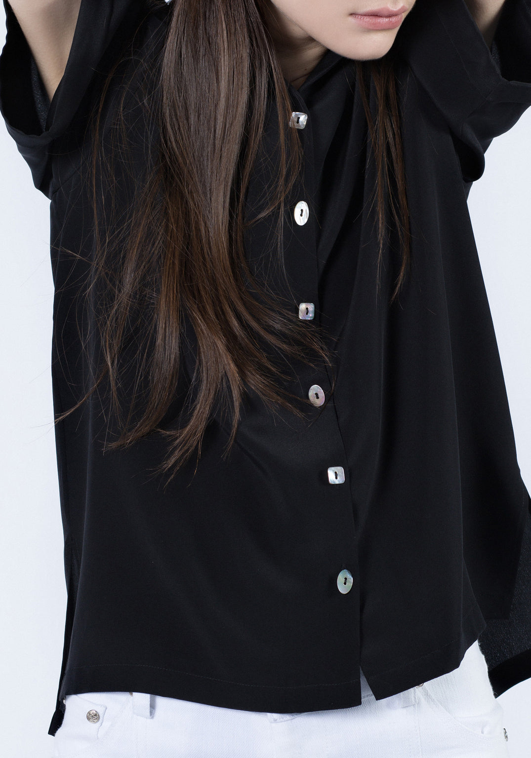 Silk Short Sleeve Button Up
