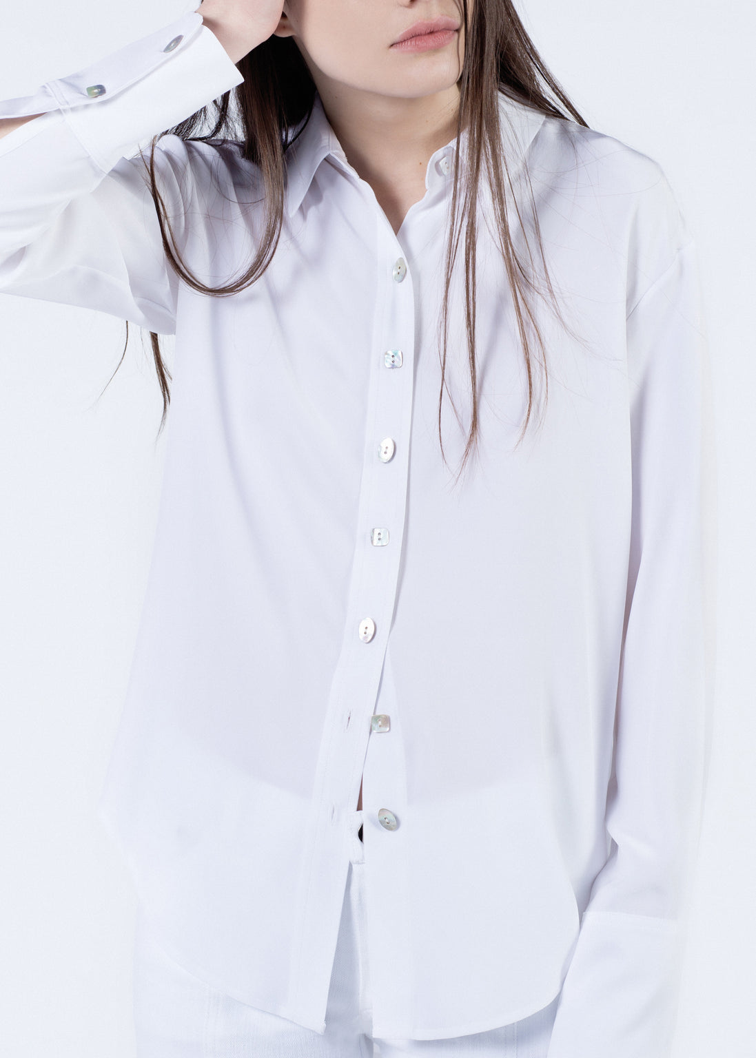 Silk Long Sleeve Button Up