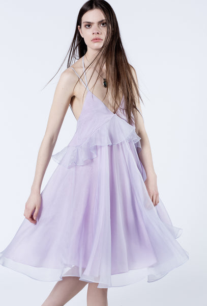Lilac Silk Organza Dress