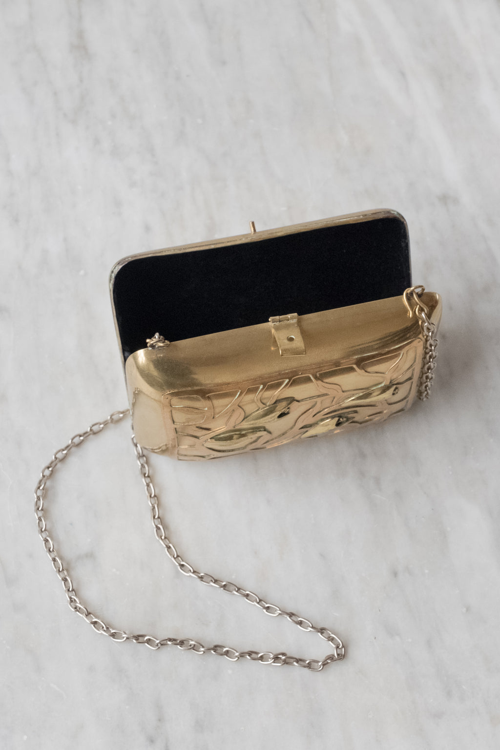 Vintage Art Nouveau Brass Purse