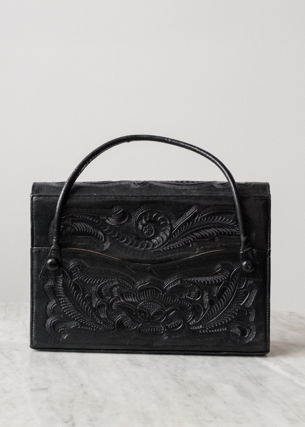Vintage Handtooled Leather Purse