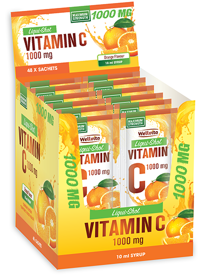 Wellvita Vitamin C Liqui-Shot 10ml (sachets)