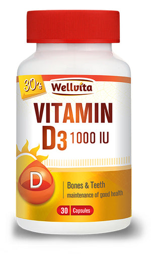 Wellvita Vitamin D3 1000IU
