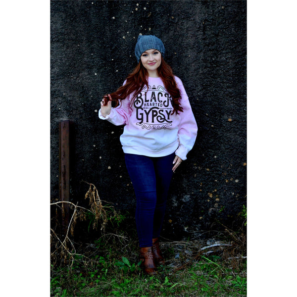 Black Hearted Gypsy Bleached Sweatshirt
